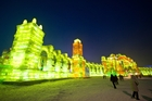 Harbin's  Ice & Snow Sculpture Festival, every November to April, draws big crowds. Photo / 123RF