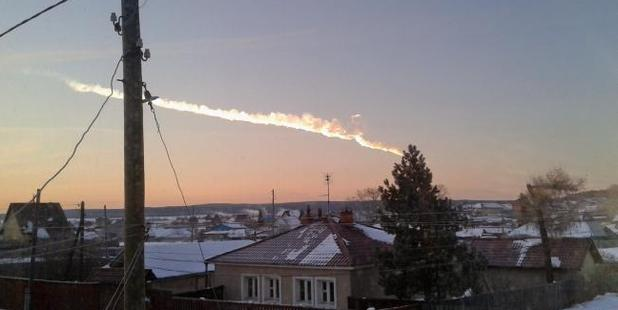 A meteor streaked across the sky of Russia's Ural Mountains in 2013. Photo / AP