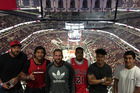 The All Blacks at a Chicago Bulls game, posted to instagram by Jerome Kaino. Photo / Instagram