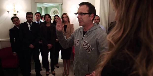 Kiefer Sutherland's character Tom Kirkman gets sworn in as US President in Netflix's series Designated Survivor