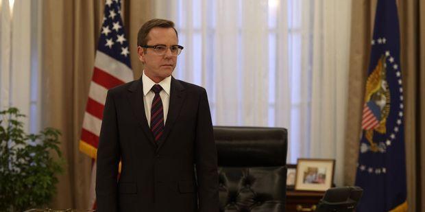 Kiefer Sutherland stars as President Tom Kirkman in the new Netflix political drama Designated Survivor.