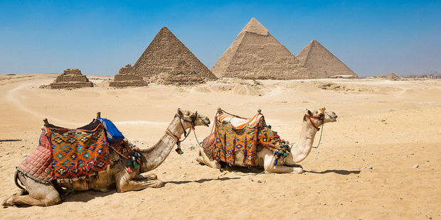 The pyramids of Giza in Egypt. Photo / 123RF