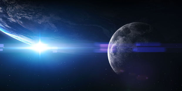 Scientists might have just solved the weird relationship between the Earth and the moon. Photo /  123RF