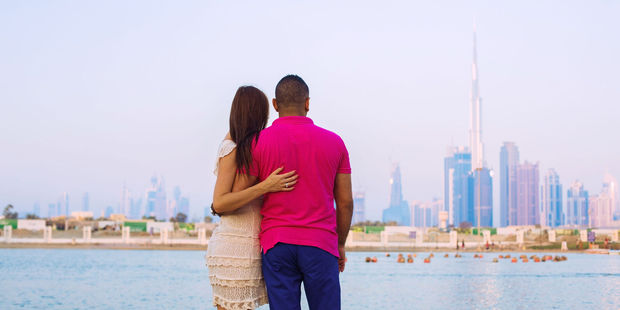 Public displays of affection are frowned upon in Dubai. Photo / 123RF