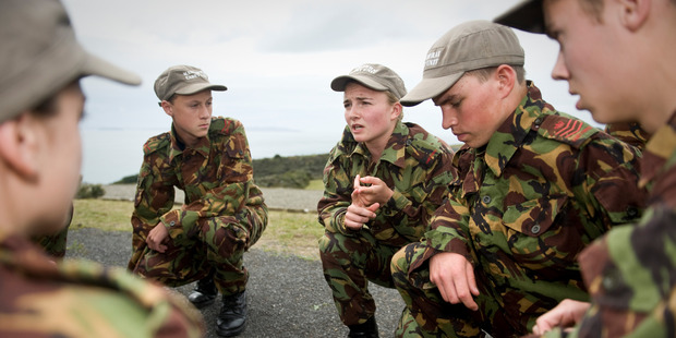 Cadets training at the Tamaki Leadership Centre. Photo / Supplied