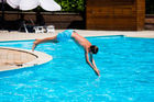 While WiFi is a must for Kiwi teens, they're not too cool to enjoy the hotel pool. Photo / 123RF