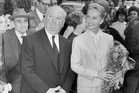 Director Alfred Hitchcock and actress Tippi Hedren at Cannes in 1963. Photo / AP