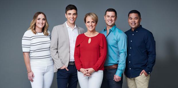 Hilary Barry presents Breakfast alongside Brodie Kane, Jack Tame, Sam Wallace and Daniel Faitaua.