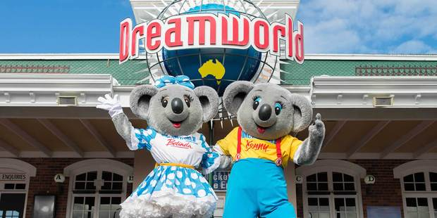 Loading Dreamworld on Gold Coat Queensland. Photo / Supplied