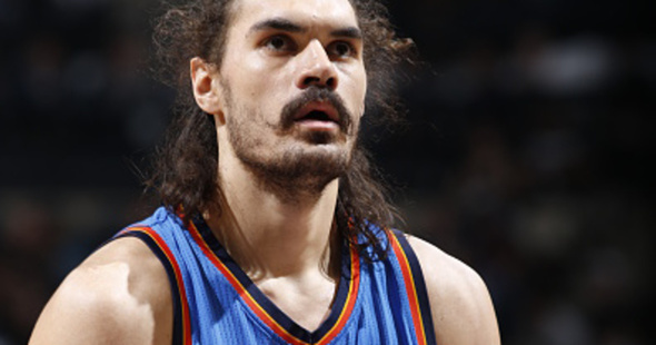 Loading Steven Adams could become one of the highest paid centres in the NBA, if he signs a $US100m contract with the Oklahoma City Thunder. Photo / Chris Covatta