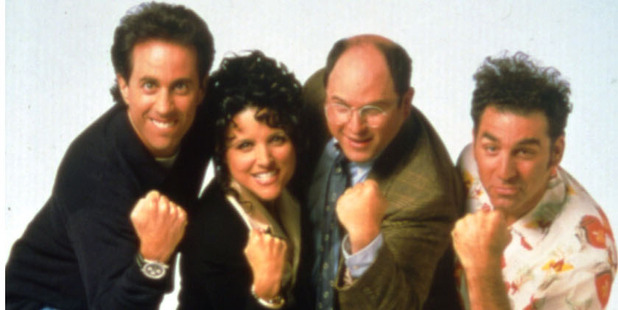 Jerry Seinfeld, Julia Louis-Dreyfus, Jason Alexander, and Michael Richards.