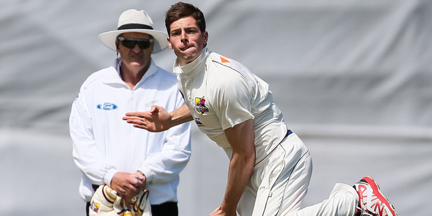 Mitchell Santner is set to miss the two-game test series against Pakistan after suffering a fractured wrist. Photo / Photosport