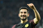 Manchester City's Ilkay Gundogan celebrates after scoring against West Brom in their 4-0 win this morning (NZT). Photo / AP