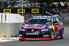 Jamie Whincup on the way to the lap record. Photo / Matthew Hansen