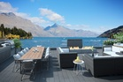 The view from the balcony of the $10,000 a night penthouse at Eichart's Private Hotel in Queenstown. Photo / supplied