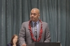 The representative from the Manukau ward made his opening speech at a council meeting today