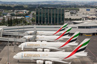 This one-off shot of four Emirates A380s at Auckland Airport in March will be a daily event from now on.