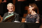 Phil Goff smiles during his ceremony were he was sworn in as Auckland City Mayor at Town Hall today. Photo / Nick Reed