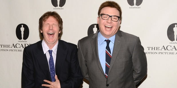 Mike Myers and Dana Carvey attend the Academy of Motion Picture Arts and Sciences hosts a Wayne's World reunion at AMPAS Samuel Goldwyn Theater on April 23, 2013. Photo / Getty