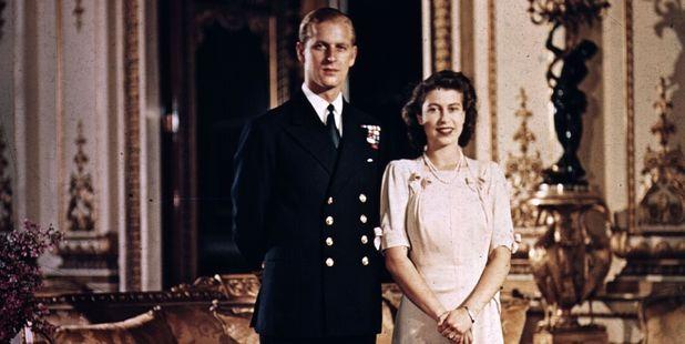 1947: Princess Elizabeth and Prince Philip, Duke of Edinburgh at Buckingham Palace shortly before their wedding. Photo / Getty