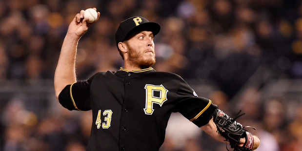 John Holdzkom pitches for the Pittsburgh Pirates. Photo / Getty Images