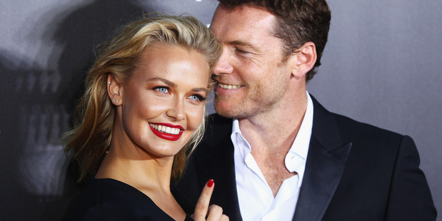 Lara Bingle and Sam Worthington arrive at the 3rd Annual AACTA Awards Ceremony at The Star on January 30, 2014 in Sydney, Australia. Photo / Getty