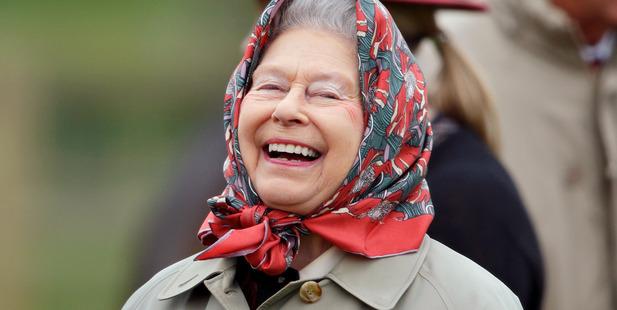 Queen Elizabeth II watches her horse 'Balmoral Fashion' Photo / Getty