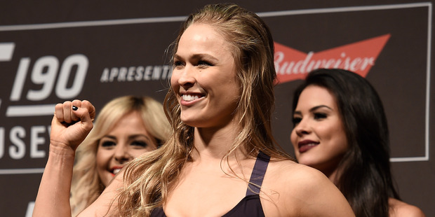 UFC fighter Ronda Rousey has admitted that her next fight may very well be her last, as she calls it quits on a tumultuous career. Photo / Getty