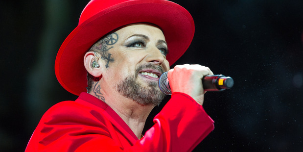Loading Boy George of Culture Club performs in concert at Eventim Apollo on September 5, 2015 in London, England. Photo / Getty