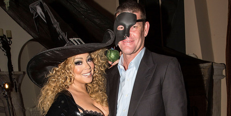 Mariah Carey (L) and James Packer appear at Mariah Carey's Festive Halloween Party at her Beverly Hills Airbnb home last year on October 31, 2015. Photo / Getty