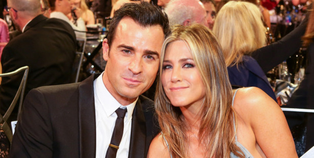 Actor Justin Theroux and actress Jennifer Aniston attend the 21st Annual Critics' Choice Awards. Photo / Getty