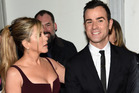 Jennifer Aniston's husband Justin Theroux appears to have taken a well-hidden swipe at Brad Pitt on Instagram. Photo / Getty Images