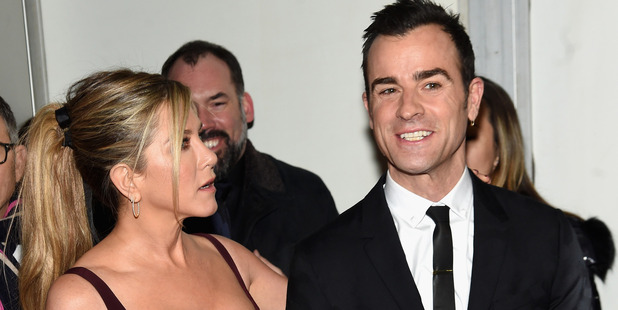 Loading Jennifer Aniston's husband Justin Theroux appears to have taken a well-hidden swipe at Brad Pitt on Instagram. Photo / Getty Images