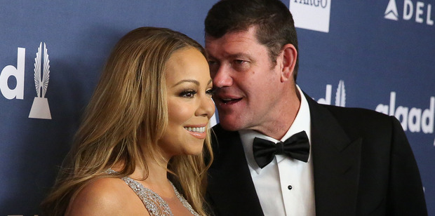 Mariah Carey and James Packer arrive for the 27th Annual GLAAD Media Awards on May 14, 2016 in New York City. Photo / Getty