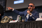 Conor McGregor is spinning his usual pre-fight smack talk ahead of the UFC 205 lightweight title bout at Madison Square Garden next weekend. Photo / Getty
