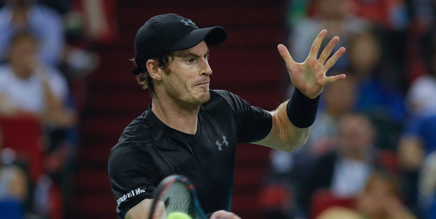 Andy Murray during men's singles at the Shanghai Rolex Masters. Photo / Getty Images