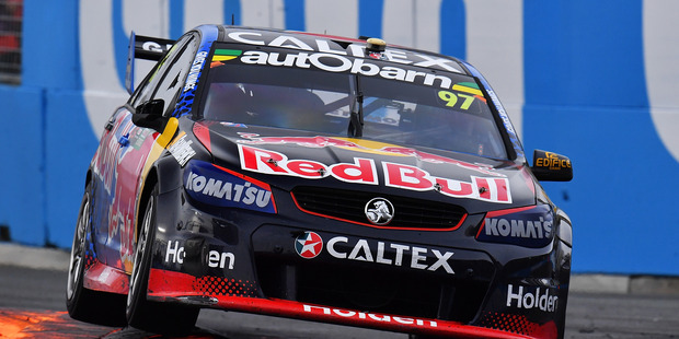 Shane van Gisbergen during race 23 of the Supercars Gold Coast 600. Photo / Getty Images