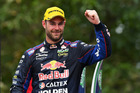 Shane Van Gisbergen reacts after race 23 of the Supercars Gold Coast 600. Photo / Getty Images