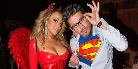 Mariah Carey (L) and choreographer Bryan Tanaka attend Mariah Carey's Halloween Party on October 22, 2016 in Los Angeles, California. Photo / Getty