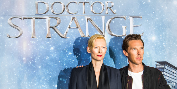 Tilda Swinton and Benedict Cumberbatch attend the 'Doctor Strange' photocall at Soho House on October 26, 2016 in Berlin, Germany. Photo / Getty