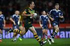 James Maloney runs in a try. Photo / Getty