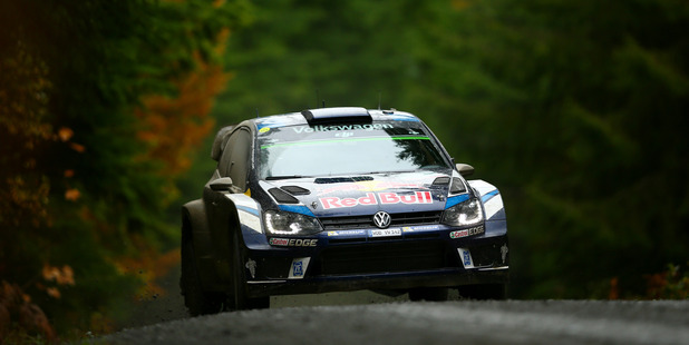 Sebastien Ogier during the Dyfi stage of Wales Rally GB. Photo / Getty Images