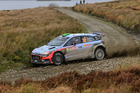 Hayden Paddon during the FIA World Rally Championship Great Britain. Photo / Getty Images