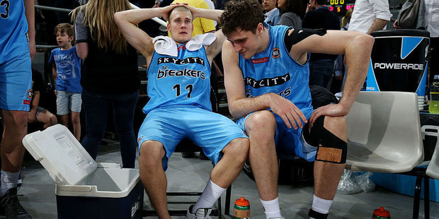 Ben Woodside of the Breakers reacts to an injury. Photo / Getty