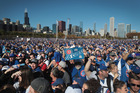 Chicago Cubs fans helped make their side's World Series victory parade the 7th largest human gathering in history. Photo / Getty