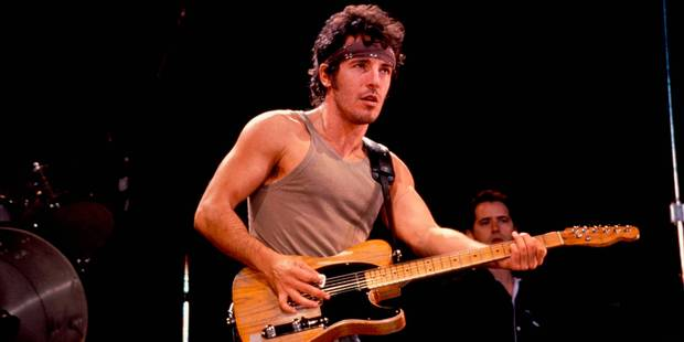 Bruce performing live onstage on Born In The USA tour . Photo / Getty