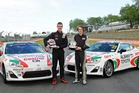 Drew Ridge and Brody McConkey will race the Castrol Albany Toyota TR 86s. Photo / Supplied