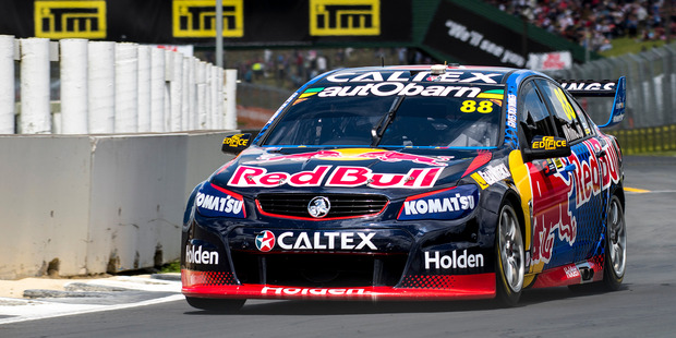 Jamie Whincup competes at the ITM Auckland SuperSprint at Pukekohe Park Raceway. Photo / Matthew Hansen