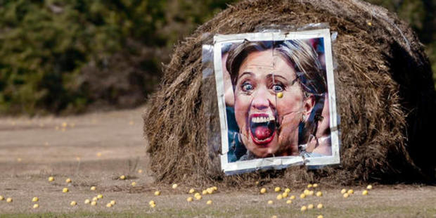 Hillary Clinton seems to be getting more desperate by the day in this ugly election. Photo / AP