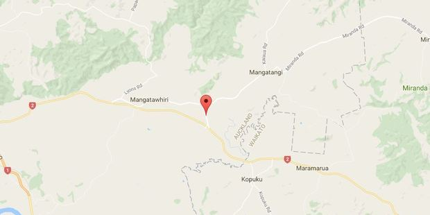 A police spokeswoman said one person was trapped in a vehicle and another, who had been freed, had serious injuries after a crash Rawiri Rd, near Mangatawhiri this evening. Photo / Google
